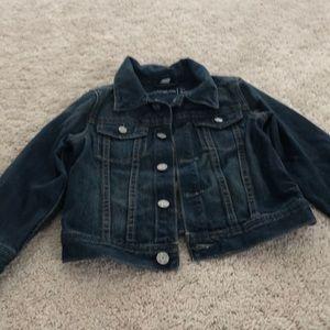 Blue gap denim boy or girls jacket size 4